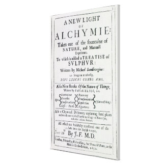 Title page to the English edition Stretched Canvas Prints