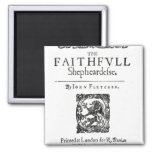 Title Page to 'The Faithfull Shepherdess' 2 Inch Square Magnet