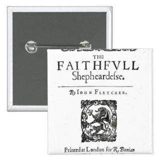 Title Page to 'The Faithfull Shepherdess' Pinback Button