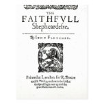 Title Page to 'The Faithfull Shepherdess' Post Cards