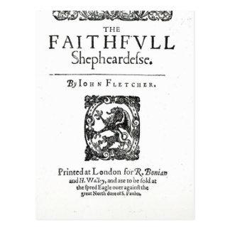 Title Page to 'The Faithfull Shepherdess' Postcard
