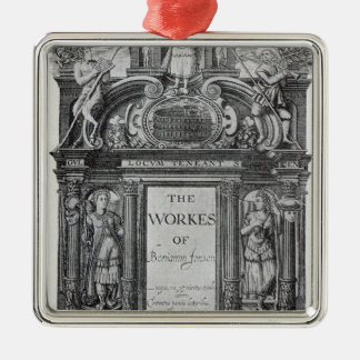 Title page to 'The Works of Benjamin Jonson' Metal Ornament