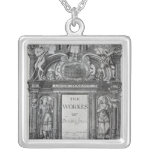 Title page to 'The Works of Benjamin Jonson' Square Pendant Necklace