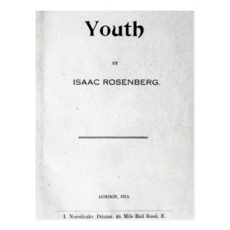 Title page to 'Youth' Postcard
