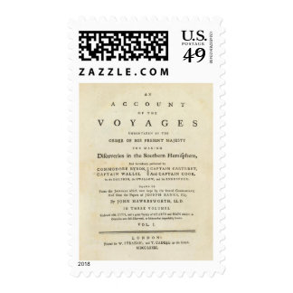 Title Page Voyages of thr Southern Hemisphere Postage Stamp