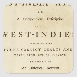Title page West India atlas Sticker