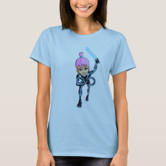 Title:  Virtual reality girl warrior t-shirt/ hood T-Shirt