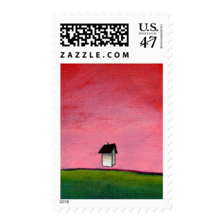 Titled:  Ambitious - house defying gravity Postage