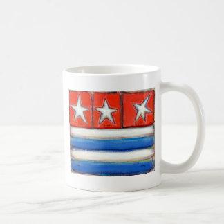 Titled:  American Essentials - flag painting ART Coffee Mug