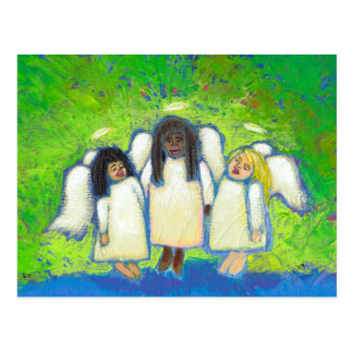 Titled:  Angels Sing to Me of Love and Loss - ART Postcard