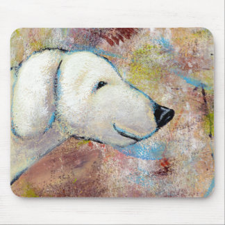 Titled:  Bo is a Happy Dog Mouse Pads