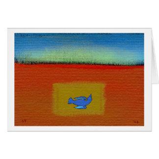 Titled:  Dead  -  beautiful modern folk art bird Card