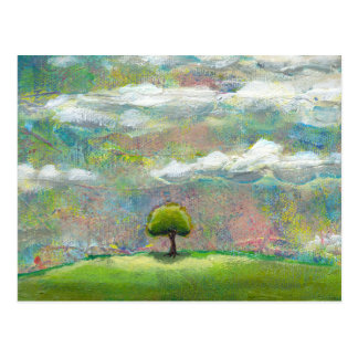 Titled:  Delicious World - beautiful landscape art Postcard