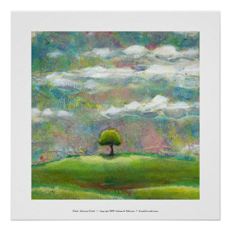 Titled:  Delicious World - beautiful landscape art Poster
