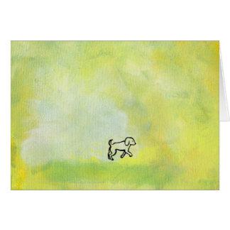 Titled:  Digger - fun dog art Greeting Card