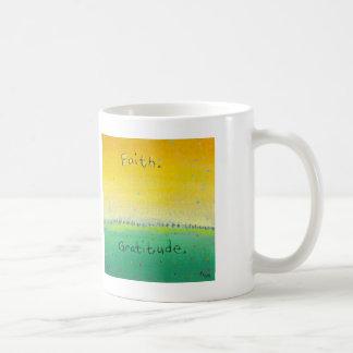 Titled:  Earth and Sky - Faith and Gratitude Classic White Coffee Mug
