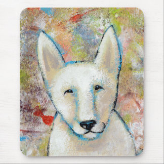 Titled:  Fred is a Happy Dog Mouse Pad