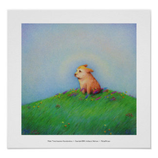Titled:  Heaven - beautiful golden puppy dog Print