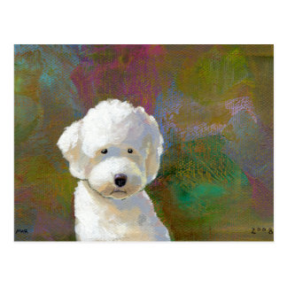 Titled: I'm Thinking About It - adorable white dog Postcard