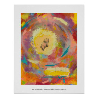Titled:  (In Motion) Action - flying pot belly pig Poster