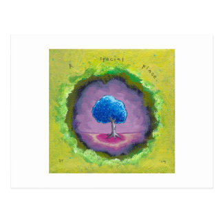 Titled:  In My World - A special place pretty tree Postcard