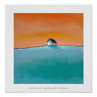 Titled:  Little House on the Hill - art landscape Poster