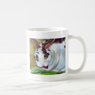Titled: Mama's Best Boy - Fun pet house rabbit art Coffee Mug