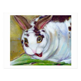 Titled: Mama's Best Boy - Fun pet house rabbit art Postcard