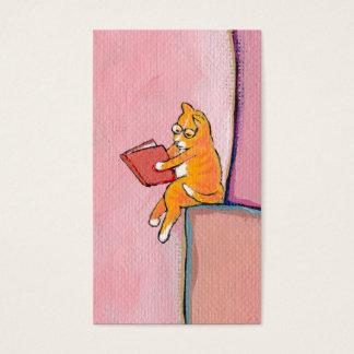 Titled:  Marmalade Prefers Solitude - fun cat art Business Card