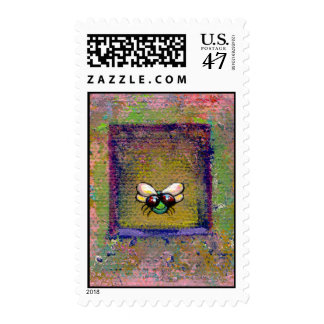 Titled: Mr. Fly - fun modern romantic insect art Postage
