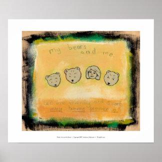 Titled: My Bears & Me - Don't provoke us bear ART Poster