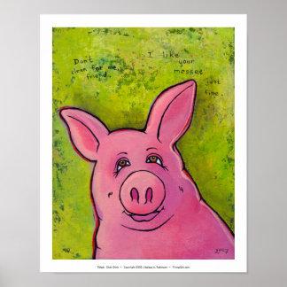 Titled:  Oink Oink Poster