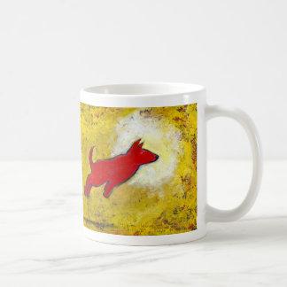 Titled Red Dog - fun playful art Coffee Mug