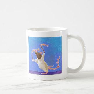 Titled:  Rhythmic Gymnastics - fun happy rat art Coffee Mug