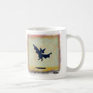 Titled:  Ritual Dance - fun bat mug - version 2