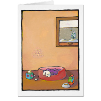 Titled: Sick Puppy - adorable art cold flu health Card