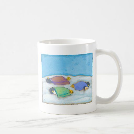 Titled:  Snoozing - adorable napping penguin art Coffee Mug