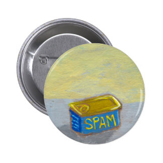 Titled: Spam and Eggs - fun breakfast art chicken Button