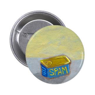 Titled: Spam and Eggs - fun breakfast art chicken Pinback Button
