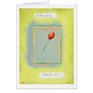 Titled:  Spirituality - Fun balloon painting Card