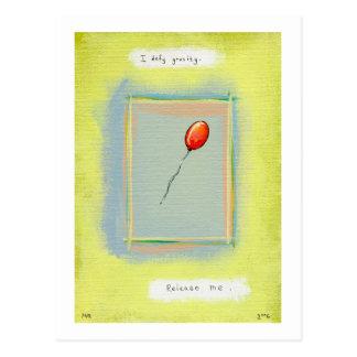 Titled:  Spirituality - Fun balloon painting Postcard