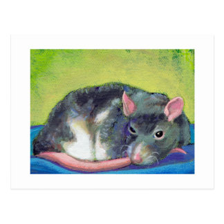 Titled: The Guardian - Pet rat art - Your words Post Card