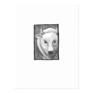 Titled:  Tiny Art #267 - White buffalo ART Postcard