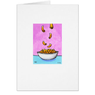Titled:  Tiny Art #487 - Mac and cheese CUSTOMIZED Card