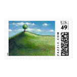 Titled:  Tiny Art #590 - One Beautiful Day Postage Stamp