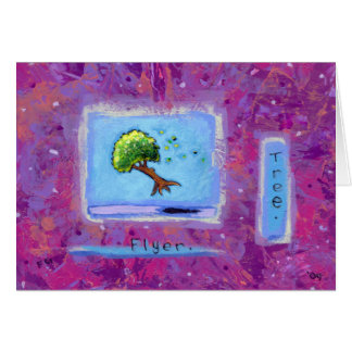 Titled:  Tiny Art #597 - Tree.  Flyer. ART Card