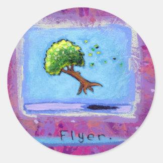 Titled:  Tiny Art #597 - Tree.  Flyer. ART Classic Round Sticker