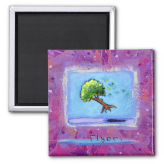 Titled:  Tiny Art #597 - Tree.  Flyer. ART Magnets
