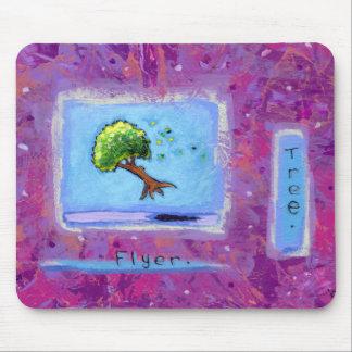 Titled:  Tiny Art #597 - Tree.  Flyer. ART Mouse Pad
