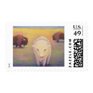 Titled:  Uncommon - sacred white buffalo Postage